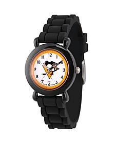 Gametime NHL Pittsburgh Penguins Kids' Black Plastic Time Teacher Watch
