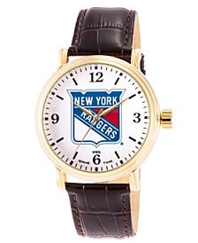 Gametime NHL New York Rangers Men's Shiny Gold Vintage Alloy Watch