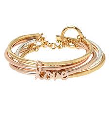 BCBGeneration 'Love' Affirmation Multi Row Toggle Bracelet