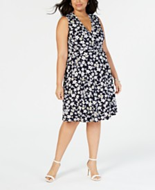 Jessica Howard Plus Size Floral-Print Dress