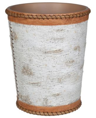 Hautman Brothers White Birch Wastebasket