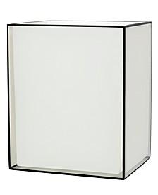 White/Black Wastebasket