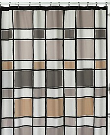 Color Blocks Shower Curtain