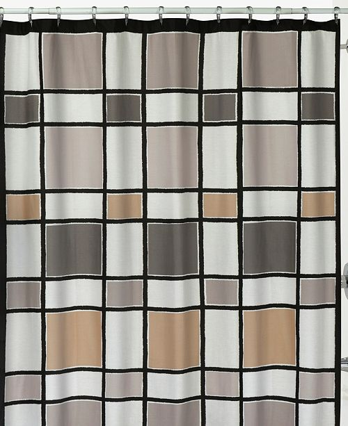 Product Details Recalling Pop Color Trends With This Contemporary Cotton Canvas Shower Curtain