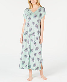 Charter Club Lace Trim Long Nightgown, Created for Macy's