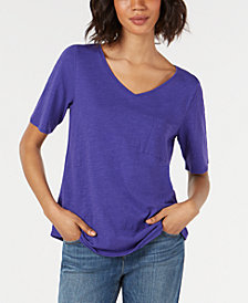 Eileen Fisher Organic Cotton Pocket T-Shirt, Regular & Petite