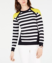 b16dc8861abc9 Tommy Hilfiger Colorblocked Striped Cotton Sweater