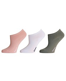 Women's 3 Pack Microfiber No-Show Socks