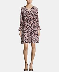 ECI Printed Shirred Dress