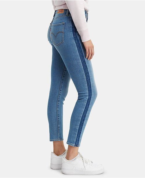 Levi's 311 Striped Shaping Ankle Skinny Jeans