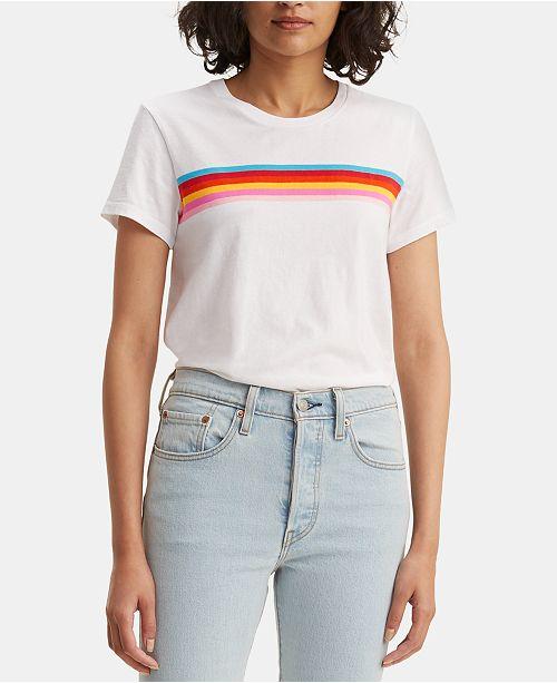 Levi's Perfect Rainbow-Stripe T-Shirt