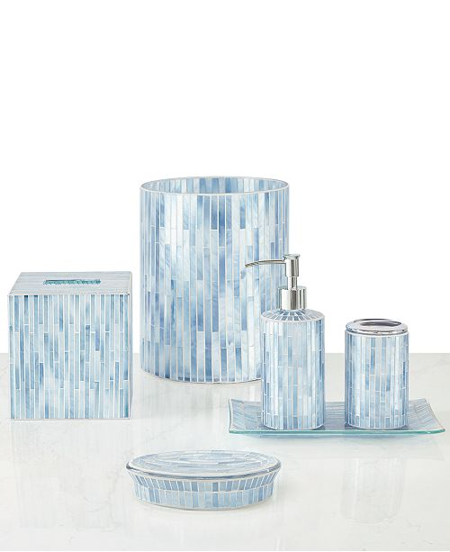 JLA Home Atlantic Mosaic Bath Accessories Collection, Created for Macy's