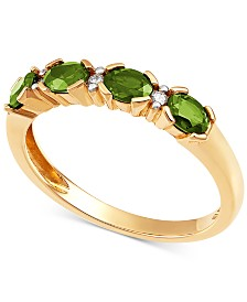 Emerald (3/8 ct. t.w.) & Diamond Accent Ring in 14k Gold