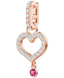 Remix Rose Gold-Tone Pavé Heart Clip-On Charm