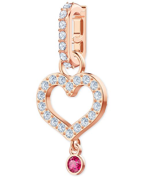 8b2c18c640cc67 ... Heart Clip-On Charm  Swarovski Remix Rose Gold-Tone Pav eacute  ...