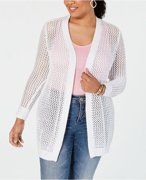 INC International Concepts I.N.C. Open-Knit Cardigan, Created for Macy's