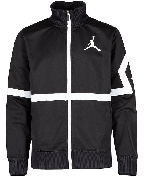 Jordan Big Boys Jumpman Diamond Track Jacket