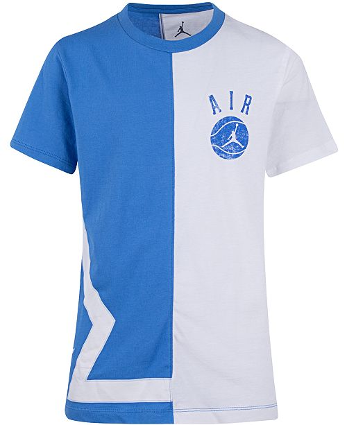 Jordan Big Boys Colorblocked Air Logo Cotton T-Shirt