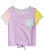 Epic Threads Little Girls Colorblocked Tie Front T Shirt Created For Macys