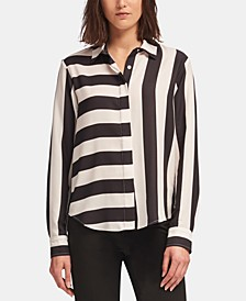 Mixed-Stripe Blouse