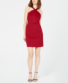 I.N.C. Crossed-Neck Bodycon Dress, Created for Macy's
