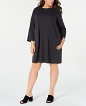 50110c9ca47 Eileen Fisher Plus Size Bracelet-Sleeve Dress