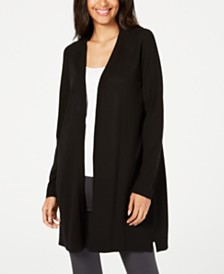 Eileen Fisher Long Tencel ™ Cardigan, Regular & Petite