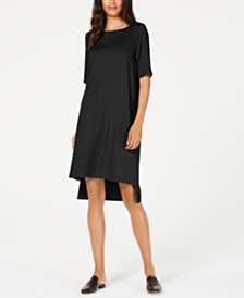 Eileen Fisher Tencel® High-Low T-Shirt Dress, Regular & Petite