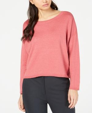 Eileen Fisher Sweaters ORGANIC SCOOP-NECK SWEATER, REGULAR & PETITE