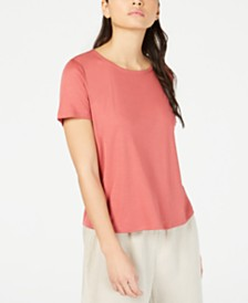 Eileen Fisher Scoop-Neck T-Shirt, Regular & Petite