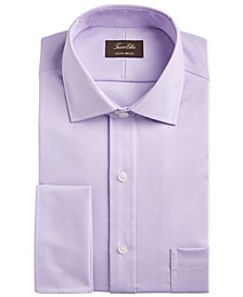 Men's Slim-Fit Non-Iron Supima® Small Herringbone French Cuff Dress Shirt, Created for Macy's
