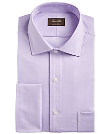 Tasso Elba Men's Slim-Fit Non-Iron Supima® Small Herringbone French Cuff Dress Shirt, Created for Macy's