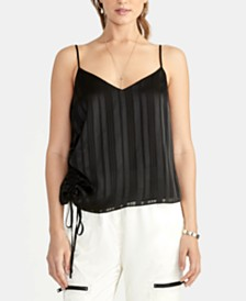 RACHEL Rachel Roy Miriam Ruched-Side Cami, Created for Macy's