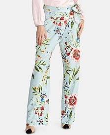 RACHEL Rachel Roy Sami Floral-Print Tie Pants, Created for Macy's
