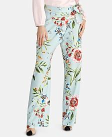 RACHEL Rachel Roy Sami Floral-Print Tie Pants
