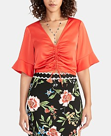RACHEL Rachel Roy Stacey Ruched-Front Top