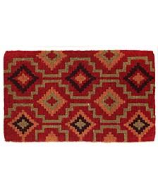 "Fab Habitat Doormat Lhasa Kilim 24"" x 36"", Extra Thick Handwoven, Durable"