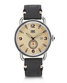 Mens' Weston Black Leather Strap Watch
