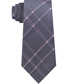 Men's Stitch Plaid Slim Silk Tie