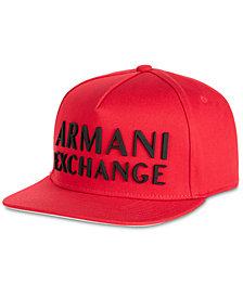 A X Armani Exchange Men's 3D Rubber Logo Baseball Cap