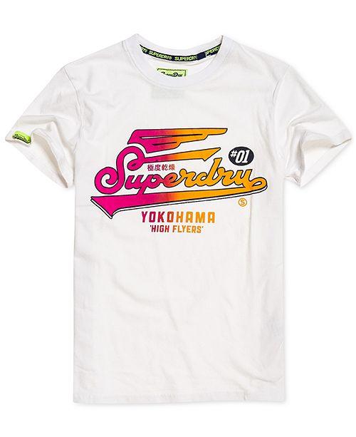 Superdry Men s High Flyers Hyper Classic Logo T-Shirt - T-Shirts ... d1e20a7f1