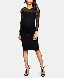 Isabella Oliver Maternity Lace-Trim Dress