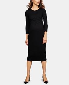 Isabella Oliver Maternity Twist-Front Dress
