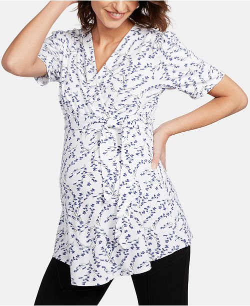 Isabella Oliver Maternity Wrap Blouse