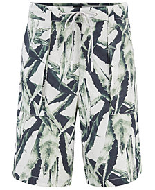 BOSS Men's Relaxed Fit Graphic Cotton Shorts