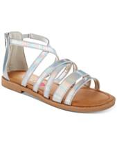 36df865600ef Sugar Little   Big Girls Iridescent Sandals
