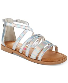 Sugar Little & Big Girls Iridescent Sandals