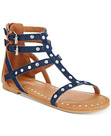 Rampage Little & Big Girls Vivian Embellished Denim Sandals