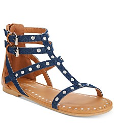 Rampage Little & Big Girls Vivian Embellished Denim Sandals