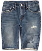 efd6d697 Levi's® Little Boys 511 Distressed Slim Denim Shorts